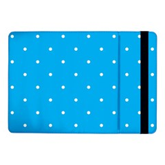 Mages Pinterest White Blue Polka Dots Crafting Circle Samsung Galaxy Tab Pro 10 1  Flip Case by Alisyart