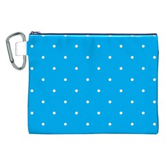 Mages Pinterest White Blue Polka Dots Crafting Circle Canvas Cosmetic Bag (xxl) by Alisyart