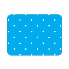 Mages Pinterest White Blue Polka Dots Crafting Circle Double Sided Flano Blanket (mini)  by Alisyart
