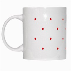 Mages Pinterest White Red Polka Dots Crafting Circle White Mugs by Alisyart