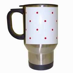 Mages Pinterest White Red Polka Dots Crafting Circle Travel Mugs (white) by Alisyart