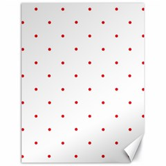 Mages Pinterest White Red Polka Dots Crafting Circle Canvas 18  X 24   by Alisyart