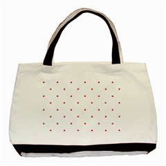 Mages Pinterest White Red Polka Dots Crafting Circle Basic Tote Bag (two Sides) by Alisyart