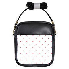 Mages Pinterest White Red Polka Dots Crafting Circle Girls Sling Bags by Alisyart