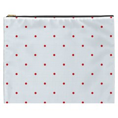 Mages Pinterest White Red Polka Dots Crafting Circle Cosmetic Bag (xxxl)  by Alisyart