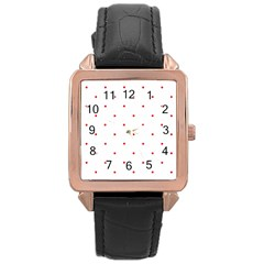 Mages Pinterest White Red Polka Dots Crafting Circle Rose Gold Leather Watch  by Alisyart