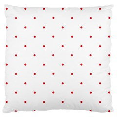 Mages Pinterest White Red Polka Dots Crafting Circle Large Flano Cushion Case (one Side) by Alisyart