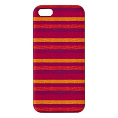 Lines Apple Iphone 5 Premium Hardshell Case by Valentinaart