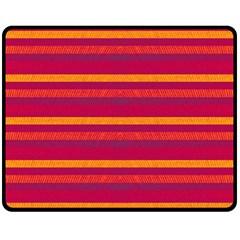 Lines Double Sided Fleece Blanket (medium)  by Valentinaart