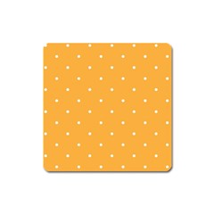 Mages Pinterest White Orange Polka Dots Crafting Square Magnet by Alisyart