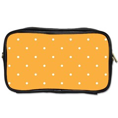 Mages Pinterest White Orange Polka Dots Crafting Toiletries Bags 2 Side by Alisyart