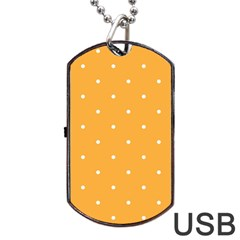 Mages Pinterest White Orange Polka Dots Crafting Dog Tag Usb Flash (one Side) by Alisyart