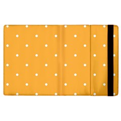 Mages Pinterest White Orange Polka Dots Crafting Apple Ipad 3/4 Flip Case by Alisyart