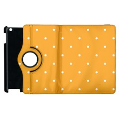 Mages Pinterest White Orange Polka Dots Crafting Apple Ipad 3/4 Flip 360 Case by Alisyart