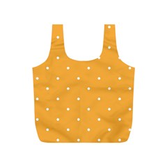 Mages Pinterest White Orange Polka Dots Crafting Full Print Recycle Bags (s)  by Alisyart
