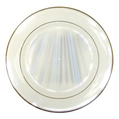 Layer Light Rays Purple Blue Porcelain Plates by Alisyart