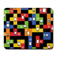 Mobile Phone Signal Color Rainbow Large Mousepads by Alisyart