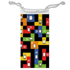 Mobile Phone Signal Color Rainbow Jewelry Bag by Alisyart