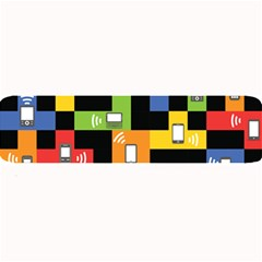 Mobile Phone Signal Color Rainbow Large Bar Mats by Alisyart