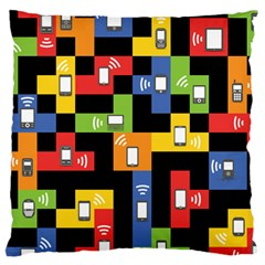 Mobile Phone Signal Color Rainbow Large Cushion Case (two Sides) by Alisyart