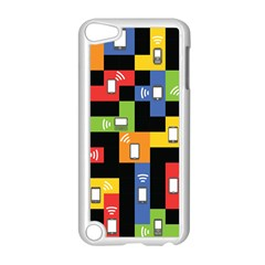 Mobile Phone Signal Color Rainbow Apple Ipod Touch 5 Case (white) by Alisyart