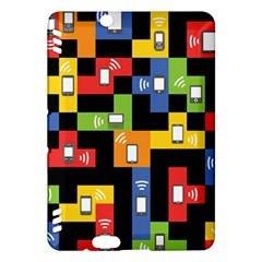 Mobile Phone Signal Color Rainbow Kindle Fire Hdx Hardshell Case by Alisyart