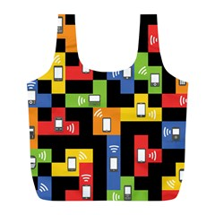 Mobile Phone Signal Color Rainbow Full Print Recycle Bags (l)  by Alisyart