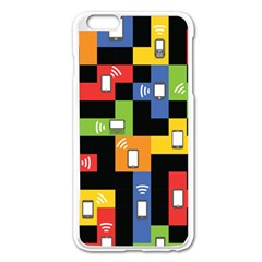 Mobile Phone Signal Color Rainbow Apple Iphone 6 Plus/6s Plus Enamel White Case by Alisyart