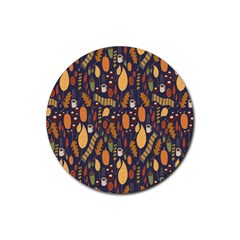 Macaroons Autumn Wallpaper Coffee Rubber Coaster (round)  by Alisyart