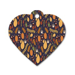 Macaroons Autumn Wallpaper Coffee Dog Tag Heart (one Side) by Alisyart