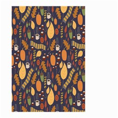 Macaroons Autumn Wallpaper Coffee Small Garden Flag (two Sides) by Alisyart