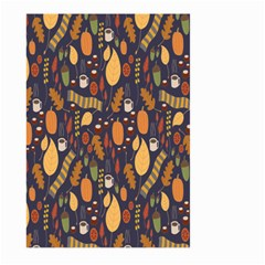 Macaroons Autumn Wallpaper Coffee Large Garden Flag (two Sides) by Alisyart