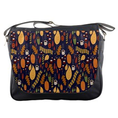 Macaroons Autumn Wallpaper Coffee Messenger Bags by Alisyart