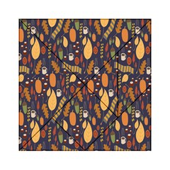 Macaroons Autumn Wallpaper Coffee Acrylic Tangram Puzzle (6  X 6 ) by Alisyart