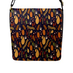 Macaroons Autumn Wallpaper Coffee Flap Messenger Bag (l)  by Alisyart