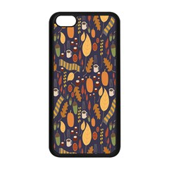Macaroons Autumn Wallpaper Coffee Apple Iphone 5c Seamless Case (black) by Alisyart