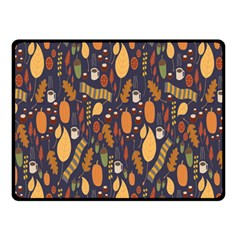 Macaroons Autumn Wallpaper Coffee Double Sided Fleece Blanket (small)  by Alisyart