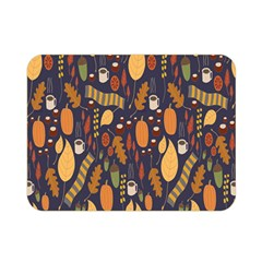 Macaroons Autumn Wallpaper Coffee Double Sided Flano Blanket (mini)  by Alisyart
