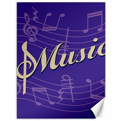 Music Flyer Purple Note Blue Tone Canvas 36  X 48   by Alisyart