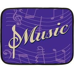 Music Flyer Purple Note Blue Tone Double Sided Fleece Blanket (mini)  by Alisyart