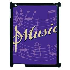 Music Flyer Purple Note Blue Tone Apple Ipad 2 Case (black) by Alisyart