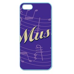 Music Flyer Purple Note Blue Tone Apple Seamless Iphone 5 Case (color) by Alisyart