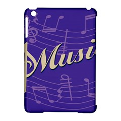 Music Flyer Purple Note Blue Tone Apple Ipad Mini Hardshell Case (compatible With Smart Cover) by Alisyart