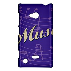 Music Flyer Purple Note Blue Tone Nokia Lumia 720 by Alisyart