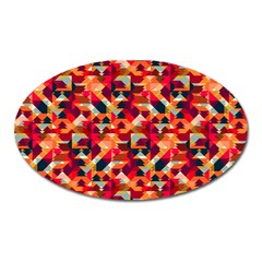 Modern Graphic Oval Magnet by Alisyart