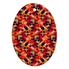 Modern Graphic Oval Ornament (two Sides) by Alisyart