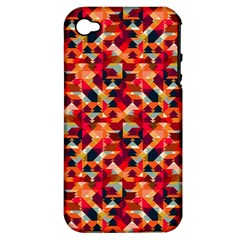 Modern Graphic Apple Iphone 4/4s Hardshell Case (pc+silicone) by Alisyart