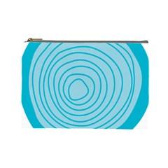 Mustard Logo Hole Circle Linr Blue Cosmetic Bag (large)  by Alisyart