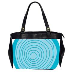 Mustard Logo Hole Circle Linr Blue Office Handbags (2 Sides)  by Alisyart