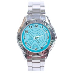 Mustard Logo Hole Circle Linr Blue Stainless Steel Analogue Watch by Alisyart
